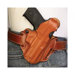 "Desantis Gunhide Thumb Break Scabbard Right-Hand Belt Holster for Smith & Wesson M&P in Plain Black Unlined (5"") - 001BAR1Z0"