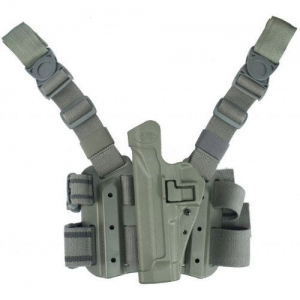 "Blackhawk Serpa Left-Hand Thigh Holster for Sig Sauer P220 in OD Green (4.4"") - 430506OD-L"