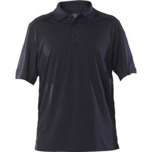 5.11 Tactical Helios Men's Short Sleeve Polo in Dark Navy - Small
