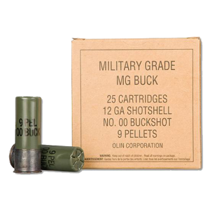 """Winchester Military Grade Buffered Value Pack .12 Gauge (2.75"""") 00 Buck Shot Lead (25-Rounds) - Q1544VP"""