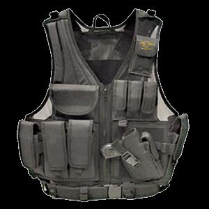 Galati Gear Tactical Vest in Nylon Black - Husky