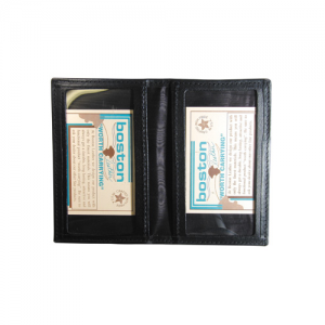 Boston Leather ID Case with Oversized ID Windows in Leather - 5819-1