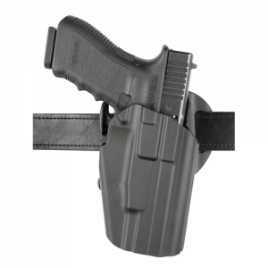"Safariland 576 GLS Pro-Fit Hi-Ride Right-Hand Belt Holster for Glock 17 in STX Plain Black (4.5"") - 576-83-411"