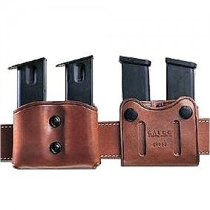 Galco International Double Magazine Double in Black Smooth Leather - DMC26B