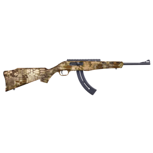 "Mossberg Kryptek Highlander .22 Long Rifle 25-Round 16.5"" Semi-Automatic Rifle in Black - 37319"