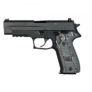 "Sig Sauer P226 Full Size Extreme .40 S&W 12+1 4.4"" Pistol in Black Nitron (Black/Grey Hogue G10 Extreme Grip) - E26R40XTMBLKGRY"