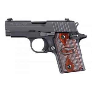 "Sig Sauer P938 Micro-Compact Rosewood 9mm 6+1 3"" Pistol in Black Nitron (Rosewood Grip) - 938-9-RG-AMBI"