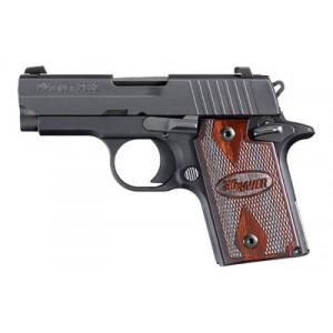"Sig Sauer P938 Micro-Compact Rosewood 9mm 6+1 3"" Pistol in Black Nitron (Rosewood Grip) - 9389RGAMBI"