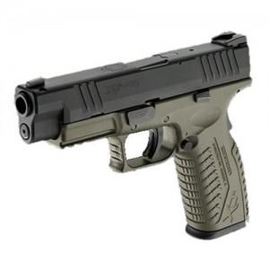 "Springfield XDM 9mm 19+1 4.5"" Pistol in Olive Drab/Black - XDM9331HCSP"