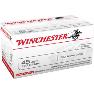 Winchester .45 ACP Full Metal Jacket, 230 Grain (100 Rounds) - USA45AVP