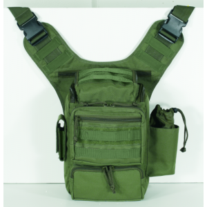 Voodoo Padded Concealment Bag Sling Backpack in OD Green Nylon - 15-045704000