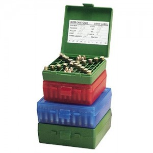 MTM 100 Round 45ACP-10MM Blue Pistol Ammo Box P1004524