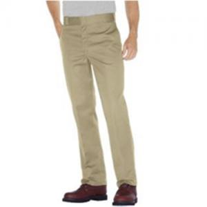 Dickies Plain-Front Work Pant Men's Uniform Pants in Desert Sand - 34 x 30