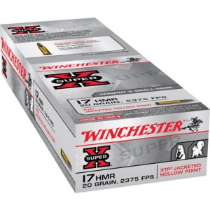 Winchester Super-X .17 HMR Jacketed Hollow Point, 20 Grain (50 Rounds) - X17HMR1