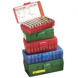 MTM 50 Round 9MM-380 Blue Pistol Ammo Box P509M24