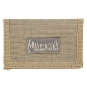 "Maxpedition Micro Wallet, Soft, 4.5""x3"", Id Window, 2 Internal Card Compartment, 1 External Slip Compartment,  Khaki Finish 0218k"