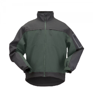 5.11 Tactical Chameleon Softshell Men's Full Zip Jacket in Moss - Medium