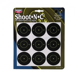 "Birchwood Casey 10 Pack 2"" Self Adhesive Round Targets 34210"