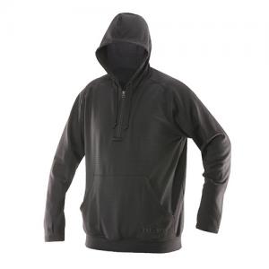 Tru Spec 24-7 Grid Men's 1/4 Zip Hoodie in Black - X-Large