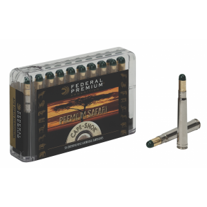 Federal Cartridge Cape-Shok Dangerous Game .470 Nitro Express Woodleigh Hydro Solid, 500 Grain (20 Rounds) - P470WH