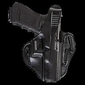 Bianchi 24106 77 Piranha Glock 19/23/36 Leather Black - 24106