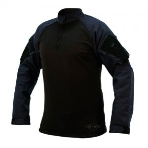 Tru Spec Combat Shirt Men's 1/4 Zip Long Sleeve in Navy - 2X-Large