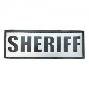 Reflective Name Plate Text: SHERIFF