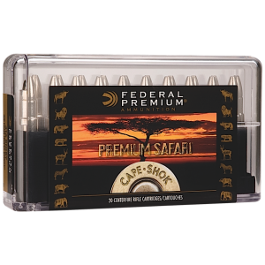 Federal Cartridge Cape-Shok Dangerous Game .370 Sako Magnum Woodleigh Hydro Solid, 286 Grain (20 Rounds) - P370WH