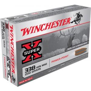 Winchester Super-X .338 Winchester Magnum Power-Point, 200 Grain (20 Rounds) - X3381