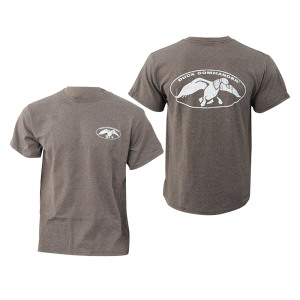 Duck Commander Logo Men's T-Shirt in Charcoal Grey - Small