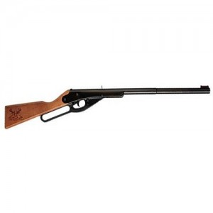 Daisy .177(4.5mm) BB Lever Action Air Rifle w/Stained Solid Wood Stock 2105