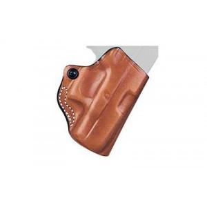 Desantis Gunhide 19 Mini Scabbard Right-Hand Belt Holster for Glock 43 in Tan Leather (W/ Streamlight TLR-6) - 019TA0CZ0