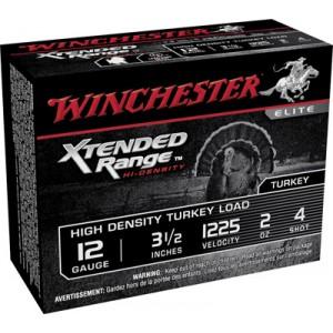 """Winchester Xtended Range Hi-Density Turkey .12 Gauge (3.5"""") 4 Shot Tungsten (10-Rounds) - STXS12L4"""