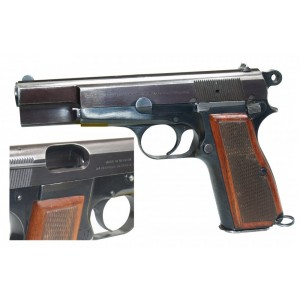 """Pre-Owned Browning - Imported by LSY Defense High Power 9mm 13+1 4.64"""" Pistol in Blued - BRNHP-WDBB-PO"""