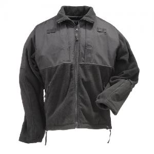 5.11 Tactical Tactical Fleece Men's Full Zip Jacket in Black - 4X-Large