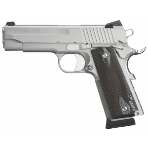 """Sig Sauer 1911 Full Size SSS CA Compliant .45 ACP 8+1 5"""" 1911 in Stainless Steel (Blackwood Grip) - 191145SSSCA"""