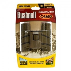 Bushnell Powerview Binoculars w/Camo Finish/Bak 7 Roof Prism 132517C