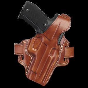 "Galco International Fletch Right-Hand Belt Holster for L-Frame in Tan (4"") - FL104"
