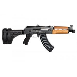 "Century Arms Zastava Pap M92, Semi-automatic, 762x39, 10"", Steel, Black Grip, Wood Forend, 30rd, Sb47 Arm Brace & Krinkov Muzzle Brake Included (unassembled) Hg3089c-n"