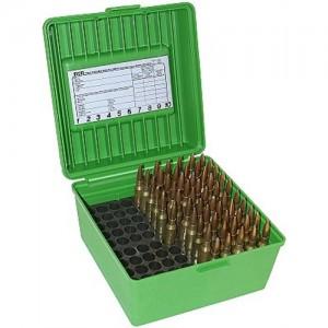 MTM 100 Round WSM/WSSM Green Rifle Ammo Box R100MAG10