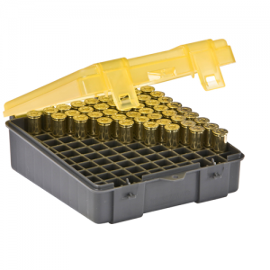 Handgun Ammo Case holds 100 rounds of .357 Mag, .38 Special and .38 S&W Caliber Bullets