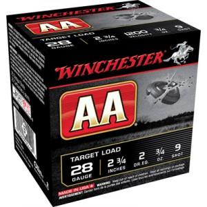 "Winchester AA .28 Gauge (2.75"") 9 Shot Lead (250-Rounds) - AA289"