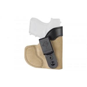 """Desantis Pocket-tuk Pocket Holster, Fits J-frame 2.25"""", Bodyguard .38, Ruger Lcr, Right Hand, Tan Leather 111na02z0 - 111NA02Z0"""