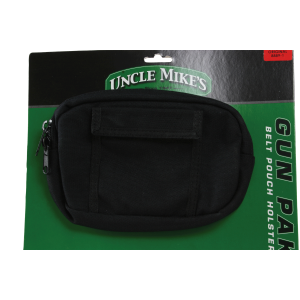 "Uncle Mikes 8889 Gun Mate Pack Holster 8889-1 8"" W X 5 1/2"" H X 1 5/8"" Thick Bl - 88891"