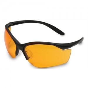 Howard Leight Vapor II Sharp-Shooter Glasses w/Orange Lens & Black Frame R01537