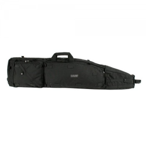 Long Gun Drag Bag  Long Gun Drag Bag, Black, 1000 denier nylon,Drag handle, Internal pouch for cleaning rod, Front/rear cargo pouches, Two interior utility pouches, Loops for Ghillie attachment, Interior weapon securing straps