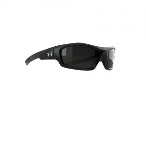 Power Sunglasses Frames: Satin Black with Silver Logo Lenses: Gray