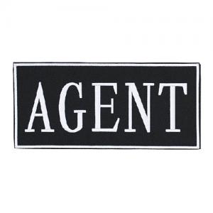 Law Enforcement Patches- AGENT (White 2  x 4 )