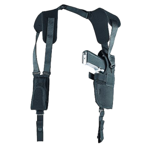 """Uncle Mike's Sidekick Left-Hand Shoulder Holster for Medium/Large Double Action Revolver in Black (7"""" - 8.5"""") - 83042"""