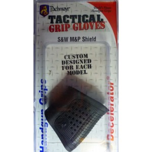 Pachmayr Gun Works Inc S&W Shield Tactical Grip Gloves for Pistols Rubber Black Finish 05179